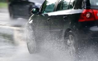 Как ездить на автомобиле в дождливую погоду