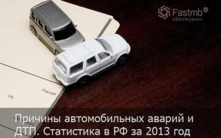 Причины автомобильных аварий и ДТП. Статистика