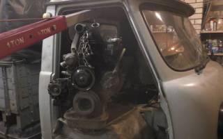 Как снять двигатель уаз буханка